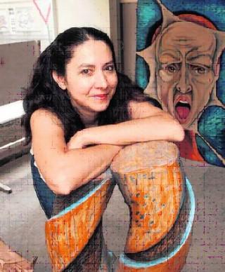 Bildinhalt: Bildhauerin Helena Garcia richtet in der Georg-Schwarz-Straße ihr Atelier ein  | Foto: André Kempner