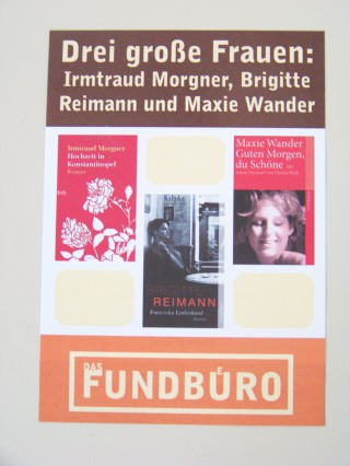 Drei große Frauen im Fundbuero - Oktoberveranstaltung zu DDR-Schriftstellerinnen | Flyer zur Veranstaltung sind auch im Stadtteilladen Leutzsch erhältlich / Foto: Enrico Engelhardt