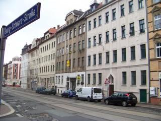 Einbruchserie - Täter erbeuten Geld und Zahnprothesen  | In der Georg-Schwarz-Straße wurde eine Gaststätte bestohlen / Foto: Enrico Engelhardt