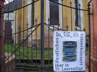 Festliches Blechbläserkonzert in der Leutzscher St. Laurentiuskirche | Festliches Blechbläserkonzert in Leutzsch, am 05. 12. 2013 / Foto: Enrico Engelhardt