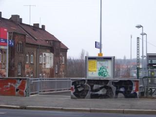 Leutzsch: Polizei fasst Graffiti-Täter  | Der Tatort am Leutzscher Bahnhof / Foto: Enrico Engelhardt