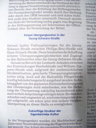Amtsblatt vermeldet: Ampel übergangsweise in der Georg-Schwarz-Straße | Der besagte Abschnitt aus dem Amtsblatt / Foto: MM GSS