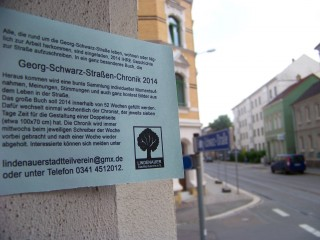 Neue ChronistInnen braucht die Straße  | ChronistInnen können sich beim Lindenauer Stadtteilverein melden / Foto: Enrico Engelhardt