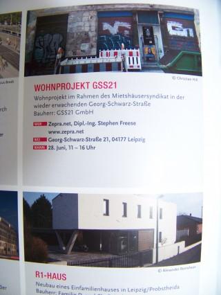 Tag der Architektur - klein, aber fein  | Auch die GSS 21 nimmt am Tag der Architektur teil / Foto: Enrico Engelhardt
