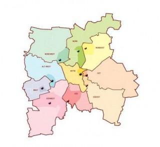 Anlaufstelle für (nahezu) alles - das Seniorenbüro | 10 Seniorenbüros gibt es in Leipzig / Grafik: LVZ