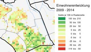 Entwicklung der Einwohner_innenzahlen an der GSS von 2009 bis 2014 | Bildrechte:  Stadt Leipzig, statistik.leipzig.de/