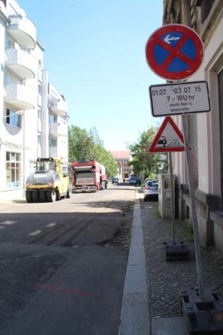 Straßenbauarbeiten in der Holteistraße |