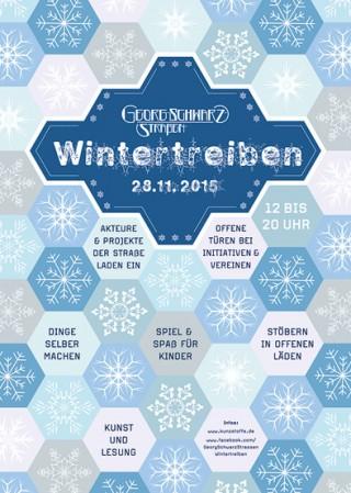 Erstes Wintertreiben auf der Georg-Schwarz-Straße am 28. November |