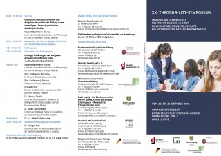 Symposium zur politischen Bildung in der multikulturellen Gesellschaft | Flyer Litt-Symposium