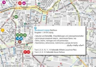 Bildinhalt: Willkommensstadtplan der Stadt Leipzig online | online