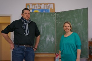 Bildinhalt: Wer ist G.E.O.R.G? | Cristoph Schumacher und Manja Ruck in G.E.O.R.G.s Lernzimmer