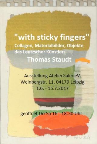 Ausstellung von Leutzscher Künstler im AtelierGalerieV. |