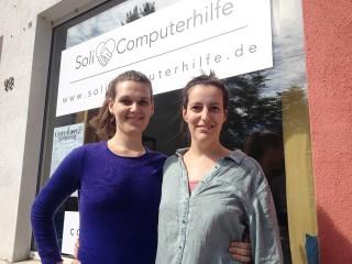 Soli-Computerhilfe mit sozialem und ökologischem Anspruch  | Emma Haskins (links) und Linda Meier