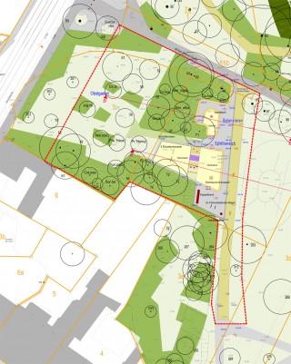 Bildinhalt: Umgestaltung Park am Wasserschloss- 1. Bauabschnitt | Plan 1. Bauabschnitt Park am Wasserschloss