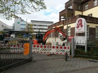 Bildinhalt: Baustelle am Diako |