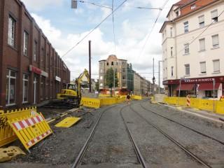 Neues von der Baustelle in der hinteren Georg-Schwarz-Straße |