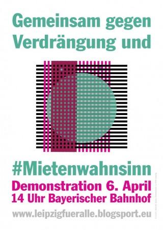 Bildinhalt: Demonstration gegen Verdrängung und Mietenwahnsinn |