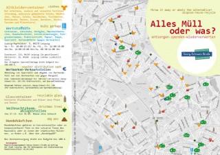 Bildinhalt: Flyer zum Thema Müll oder Verschenken für Leipziger Westen erschienen |