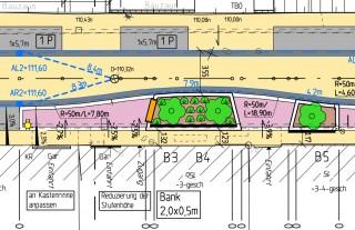 Bildinhalt: Sanierung der Holteistraße | Baumbrosche aus Entwurf Holteistraße, Stadt Leipzig