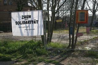 Bildinhalt: Zaun der Solidarität | Nachbarschaft Leutzsch