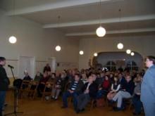 Bildinhalt: Pl�ne zur Veranstaltung zur Neugestaltung der Georg-Schwarz-Stra�e vom 12.02.2014
