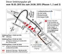 Bildinhalt: Umbau der Georg-Schwarz-Straße zwischen Philipp-Reis-Straße und Hans-Driesch-Straße