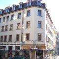 Neue Hausfassade am Eckhaus GSS / Erich-Köhn-Straße 65 sichtbar | Die neue Fassade Erich-Köhn-Straße 65 an der Ecke zur GSS / Foto: Enrico Engelhardt