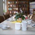 Zweites Bürgerfrühstück im Stadtteilladen Leutzsch, am 15. 01. 2014 | Die Tafel im Stadtteilladen Leutzsch soll am 15. 01. gut gefüllt sein / Foto: Enrico Engelhardt