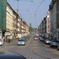 ADFC fordert Radstreifen und breite Gehwege | Georg-Schwarz-Straße stadtauswärts  / Foto: Daniela Nuß