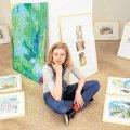 Künstlerin Enders zeichnet Reisetagebuch  | Aus ihren Reisen erwachsen Bilder: Die Leipziger Künstlerin Katja Enders / Foto: André Kempner