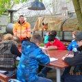 Erste Projektwoche an der ehemaligen 57.-  Außenstelle der Helmholtzschule | Projektarbeit am Lindenauer Hafen / Foto: Angelika Pietzonka, Außenstelle Helmholtzschule