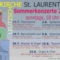 Sommerkonzerte der Kirchgemeinde Leutzsch | Plakat: Kirchgemeinde Leutzsch