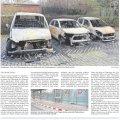 Brandanschlag auf Autos des Ordnungsamtes am Rathaus Leutzsch | LVZ Artikel vom 8.12.16, S.17
