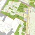 Umgestaltung Park am Wasserschloss- 1. Bauabschnitt | Plan 1. Bauabschnitt Park am Wasserschloss